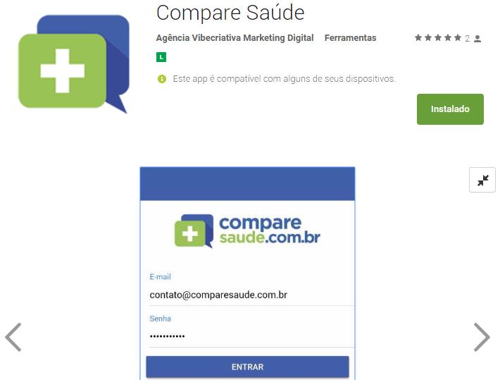Compare Saúde - Aplicativo para corretores de saúde