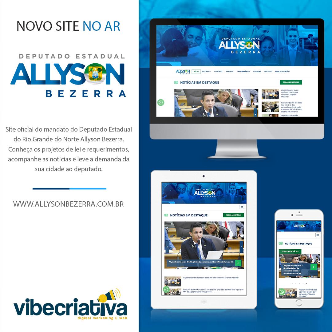 Site Oficial do Dep. Allyson Bezerra